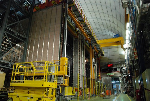 View of OPERA detector. The OPERA experiment observes neutrino beams from CERN 7