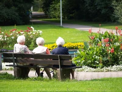 Pflanzen unterstützen die pflege von alten menschen