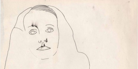 The famous Greta Garbo portrait of Edward Steichen drawn by Andy Warhol is part