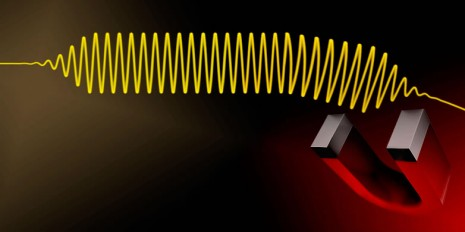 Photons are usually insensitive to magnetic fields. However, their propagation