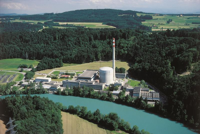 The Mühleberg plant sits on the Aar River in the canton of Bern. © BKW FMB Energ