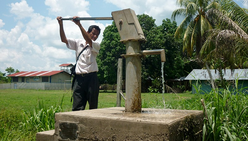 A typical groundwater well in Peru. (Photo: Caroline de Meyer, Eawag)