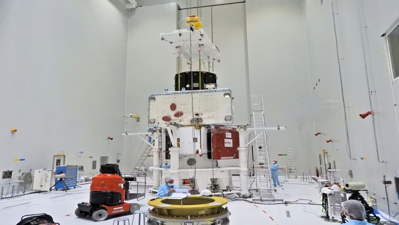 The BepiColombo spacecraft 'stack' is complete. 