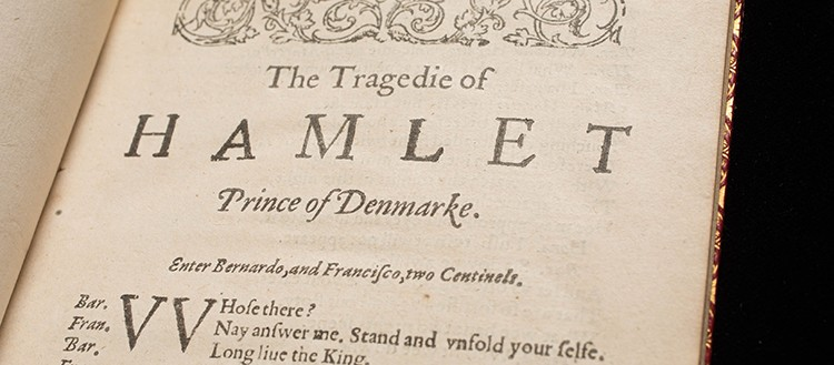 William Shakespeare, The Tragedy of Hamlet, Prince of Denmarke, Londres, pour J