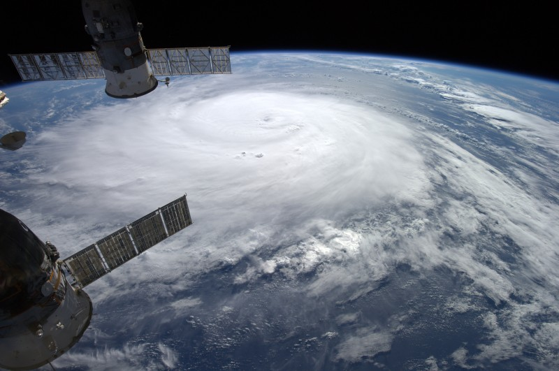 Hurricane 'Gonzalo' viewed from the International Space Station ISS