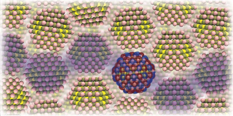 Tightly packed crystals in a nanocrystal semiconductor: the model developed by E