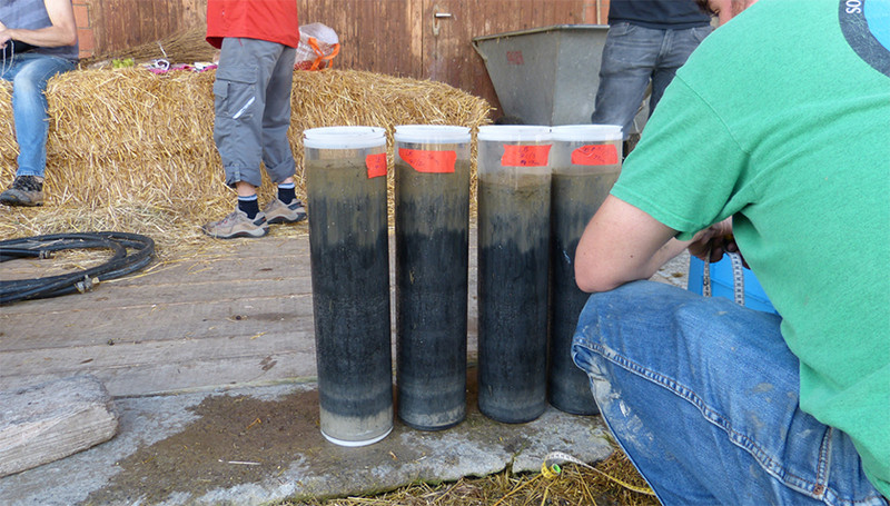 Sediment samples recently collected from the bottom of Lake Baldegg (Photo: ETH,