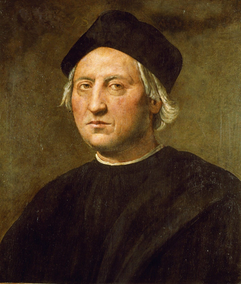 Presumed portrait of Christopher Columbus near 1520 (Painting: Ridolfo del Ghirl