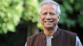 EPFL took the opportunity of Muhammad Yunus' visit to announce a new social
