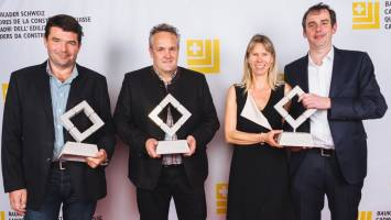 The winners of the Cadre d'Or in the field of wood construction with Tanja