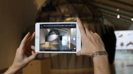 Users can snap photos or make audio recordings to describe the impact an exhibit
