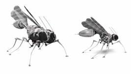 Concept design of fly-robots. Copyright: P. Ramdya, EPFL