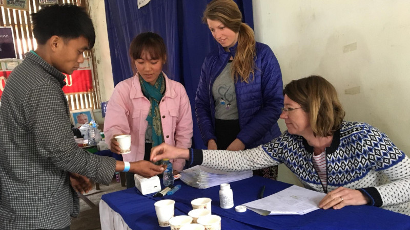 Jennifer Keiser is in Northern Laos to test the efficacy, safety and pharmacokin