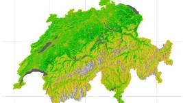 Switzerland from a satellite perspective: The vegetation's average biomass p