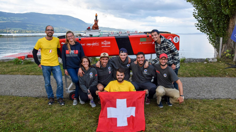 HydroContest EPFL Team took first place in the nautical competition with its lig