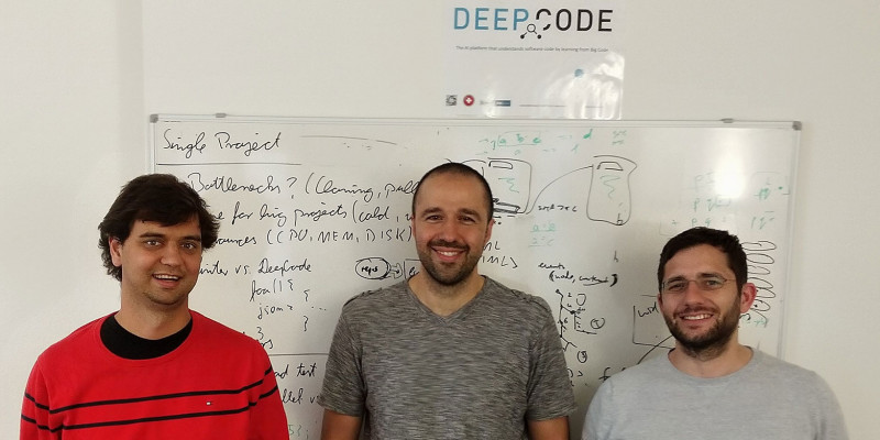 The DeepCode Founders (from left to right): Veselin Raychev (CTO), Boris Paskale