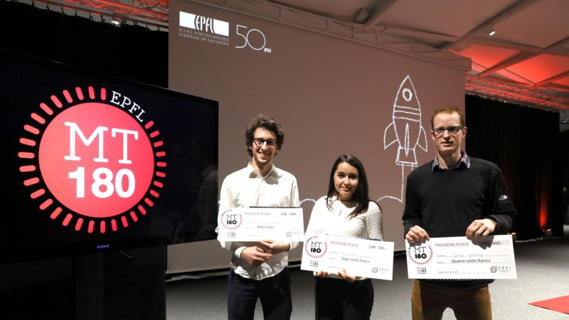 Alvaro Charlet, first place, Radmila Faizova, 2nd et Josué Gehring, 3rd of My Th