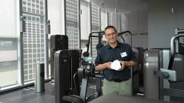 Proud winner: Peter Dransfeld, architect of the NEST unit 'Solar Fitness & Welln