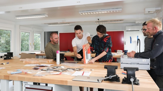 The new makerspace encourages creativity and hands-on learning©Muriel Gerber/EPF
