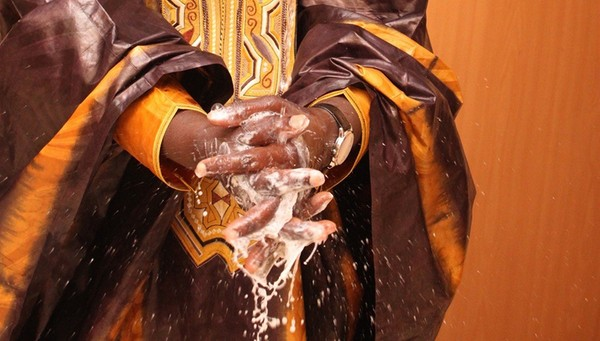 Hand washing is one of the crucial measures in protecting oneself from Ebola. (P