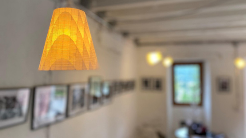 The lampshade made from recycled PET. © Tiago P. Borges