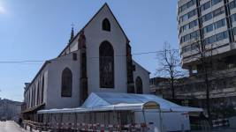 The Prediger church next to the University Hospital of Basel has been transforme