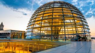 View of the Bundestag Dome in Berlin