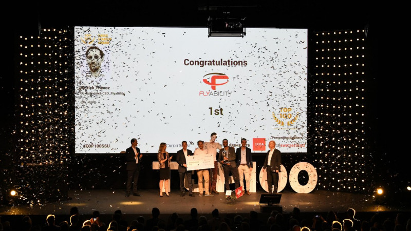 Flyability, an EPFL spin-off, tops the list of TOP 100 Swiss Startup Award © 201