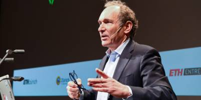 Tim Berners-Lee made a guest appearance at Worldwebforum Next Generation at ETH